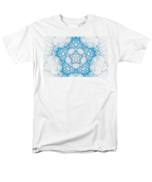 Men's T-Shirt  (Regular Fit) featuring the digital art Ice Crystals by GJ Blackman