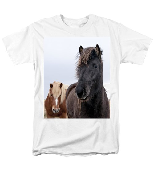 Iceland Horses Men's T-Shirt  (Regular Fit) by Mike Santis