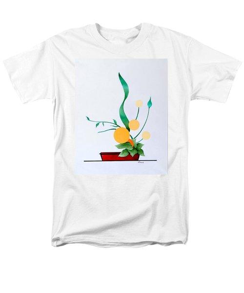 Ikebana #1 Red Pot Men's T-Shirt  (Regular Fit) by Thomas Gronowski