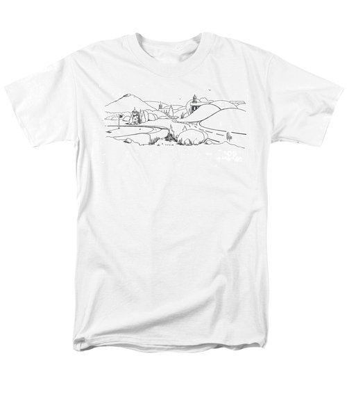 In The Land Of Brigadoon  Men's T-Shirt  (Regular Fit) by Kip DeVore
