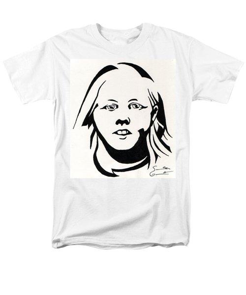 Ink Portrait Men's T-Shirt  (Regular Fit) by Samantha Geernaert