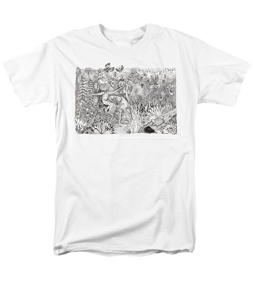 Men's T-Shirt  (Regular Fit) featuring the photograph Inky Orchid Pond by Adria Trail