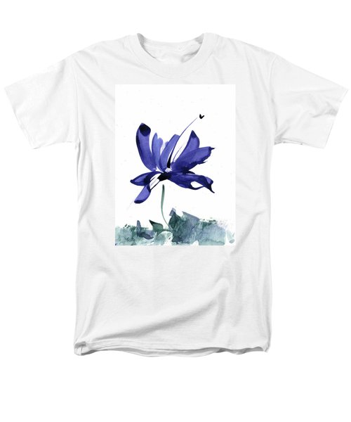 Iris In The Greenery Watercolor Men's T-Shirt  (Regular Fit) by Frank Bright