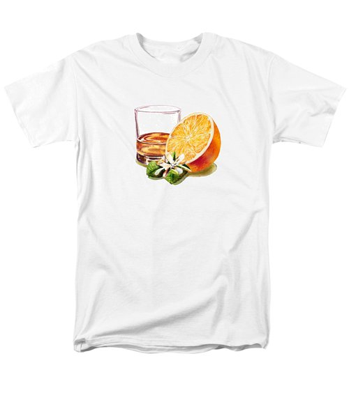 Men's T-Shirt  (Regular Fit) featuring the painting Irish Whiskey And Orange by Irina Sztukowski