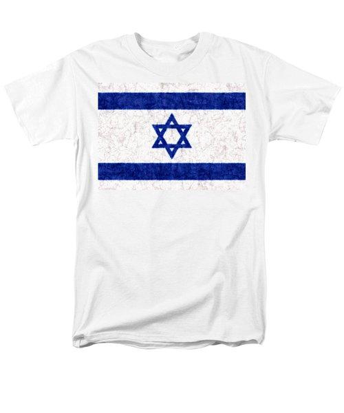 Israel Star Of David Flag Batik Men's T-Shirt  (Regular Fit) by Kurt Van Wagner