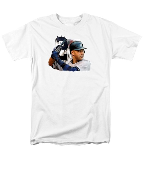 Jeter II  Derek Jeter Men's T-Shirt  (Regular Fit) by Iconic Images Art Gallery David Pucciarelli