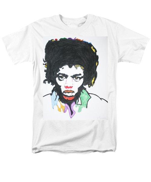 Men's T-Shirt  (Regular Fit) featuring the painting Jimi Hendrix by Stormm Bradshaw