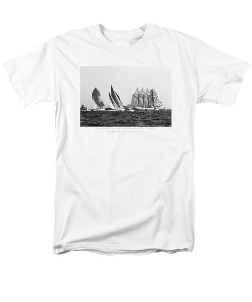 Men's T-Shirt  (Regular Fit) featuring the photograph Juan Sebastian Elcano Departing The Port Of Cadiz by Pablo Avanzini
