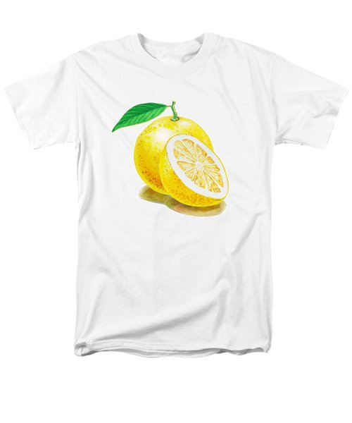 Men's T-Shirt  (Regular Fit) featuring the painting Juicy Grapefruit by Irina Sztukowski