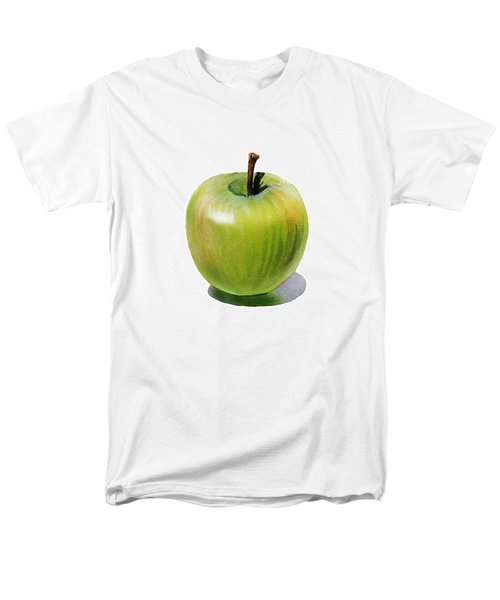 Men's T-Shirt  (Regular Fit) featuring the painting Juicy Green Apple by Irina Sztukowski