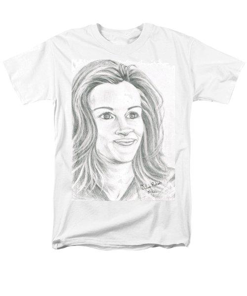 Men's T-Shirt  (Regular Fit) featuring the drawing Julia Roberts by Teresa White