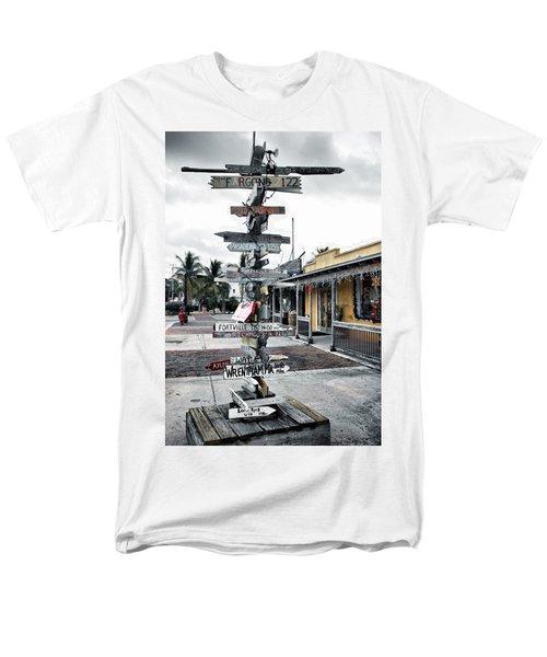 Key West Wharf Men's T-Shirt  (Regular Fit) by Ellen Heaverlo