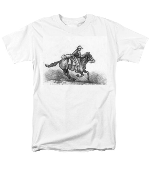 Men's T-Shirt  (Regular Fit) featuring the drawing Kickin Up Dust by Shana Rowe Jackson