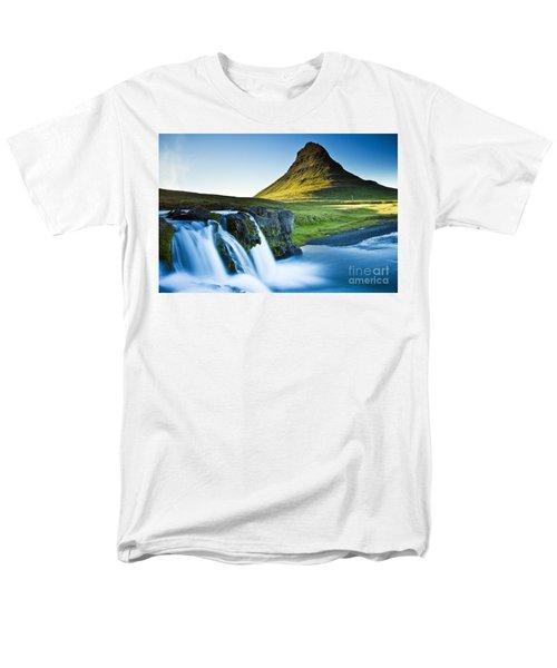 Kirkjufell Mountain Men's T-Shirt  (Regular Fit) by Gunnar Orn Arnason
