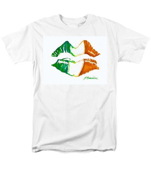 Men's T-Shirt  (Regular Fit) featuring the painting Kiss Me I'm Irish by D Renee Wilson