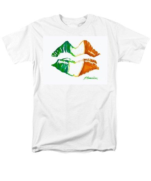 Kiss Me I'm Irish Men's T-Shirt  (Regular Fit) by D Renee Wilson