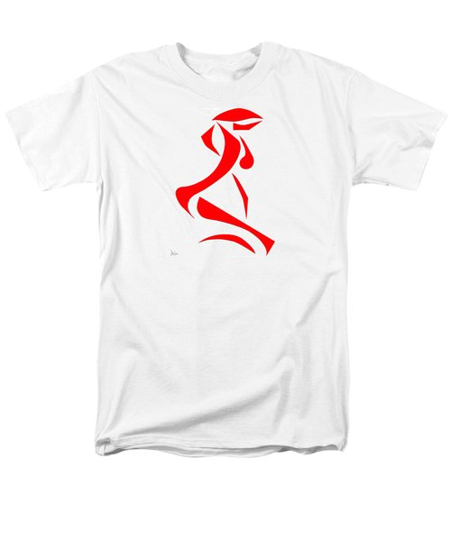 Men's T-Shirt  (Regular Fit) featuring the digital art Kneeling Nude by Delin Colon