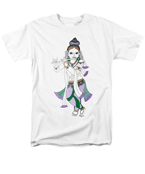 Krishna IIi Men's T-Shirt  (Regular Fit) by Kruti Shah