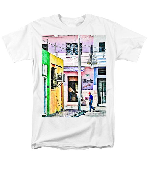 Men's T-Shirt  (Regular Fit) featuring the photograph La Farmacia by Jim Thompson