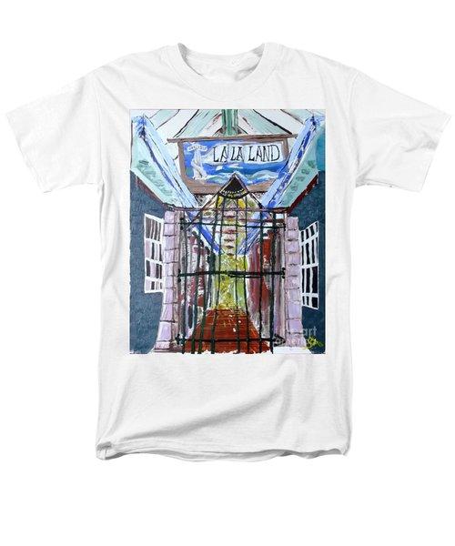 Men's T-Shirt  (Regular Fit) featuring the painting La La Land  by Leslie Byrne