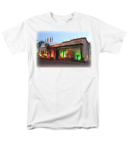 Men's T-Shirt  (Regular Fit) featuring the photograph La Posta De Mesilla New Mexico by Barbara Chichester
