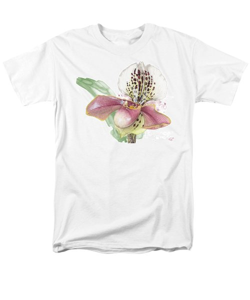 Ladys Slipper - Orchid 14 - Elena Yakubovich Men's T-Shirt  (Regular Fit) by Elena Yakubovich