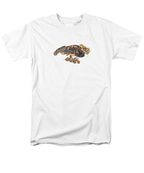 Large Blotched Salamander2 Men's T-Shirt  (Regular Fit) by Cindy Hitchcock
