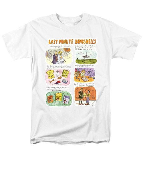 Last-minute Bombshells Men's T-Shirt  (Regular Fit) by Roz Chast