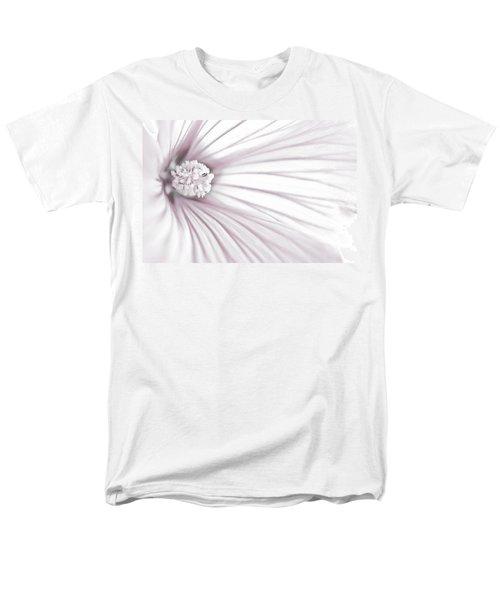 Lavatera Flower Stamen Macro  Men's T-Shirt  (Regular Fit) by Sandra Foster