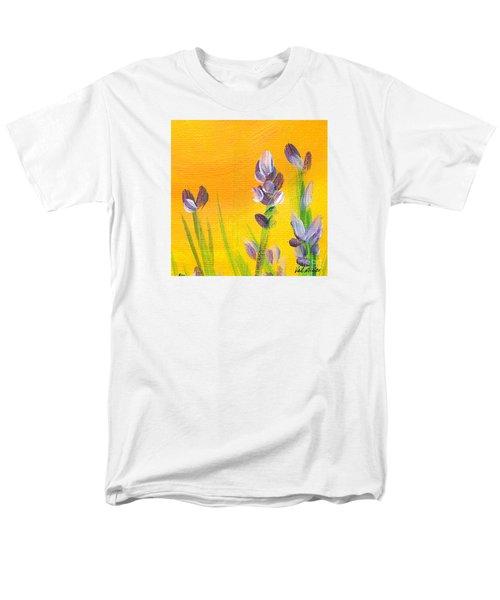 Lavender - Hanging Position 3 Men's T-Shirt  (Regular Fit) by Val Miller