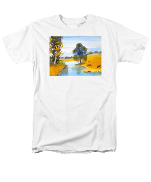 Men's T-Shirt  (Regular Fit) featuring the painting Lawson River by Pamela  Meredith