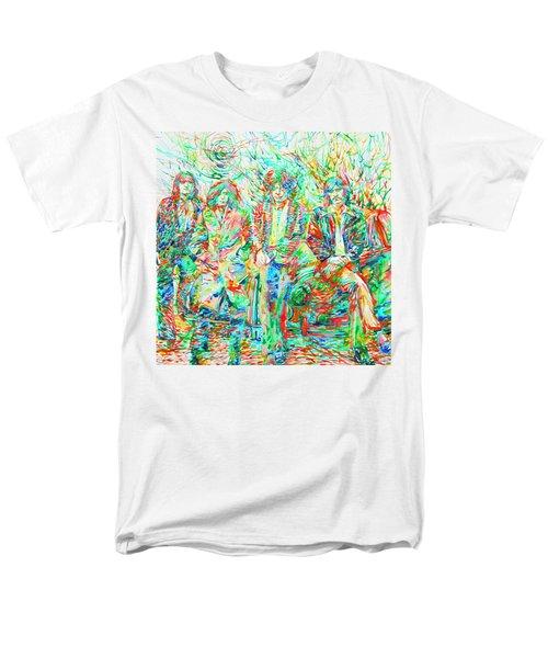 Led Zeppelin - Watercolor Portrait.1 Men's T-Shirt  (Regular Fit) by Fabrizio Cassetta