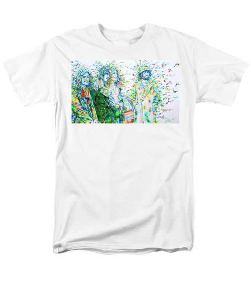 Led Zeppelin - Watercolor Portrait.2 Men's T-Shirt  (Regular Fit) by Fabrizio Cassetta