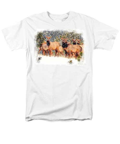 Let It Snow - Barbara Chichester Men's T-Shirt  (Regular Fit) by Barbara Chichester