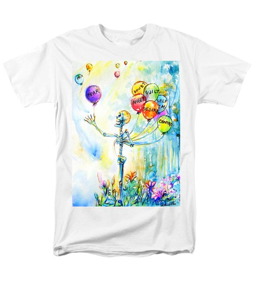 Letting Go Men's T-Shirt  (Regular Fit) by Heather Calderon