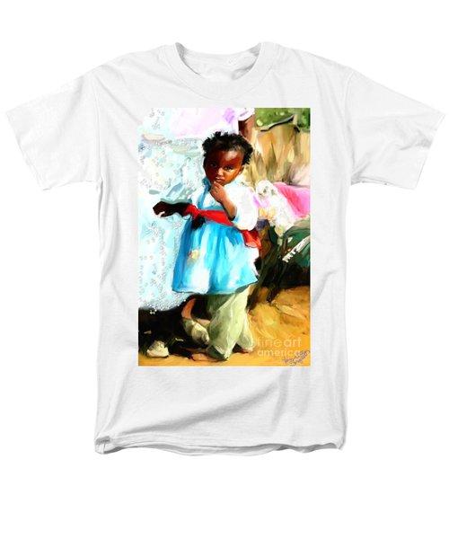 Lil Girl  Men's T-Shirt  (Regular Fit) by Vannetta Ferguson