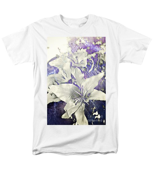Men's T-Shirt  (Regular Fit) featuring the photograph Lilies And Denim by Janie Johnson