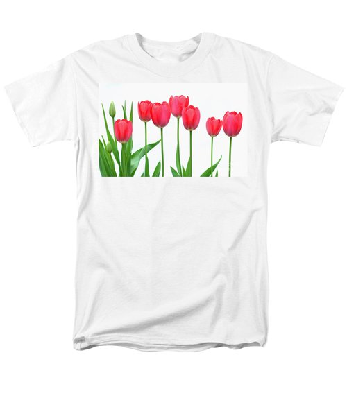 Line Of Tulips Men's T-Shirt  (Regular Fit) by Steve Augustin