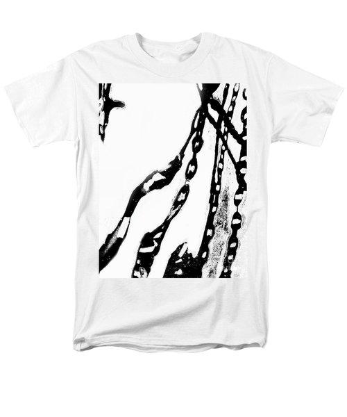Liquid  Chains  Men's T-Shirt  (Regular Fit) by Expressionistart studio Priscilla Batzell