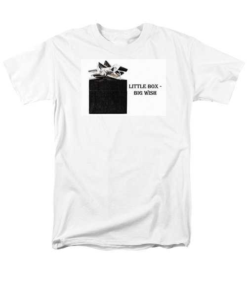 Men's T-Shirt  (Regular Fit) featuring the photograph Black Present With A Silver Bow by Vizual Studio