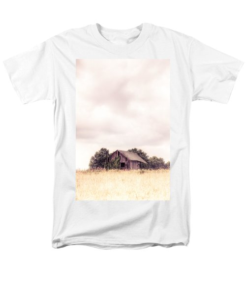 Men's T-Shirt  (Regular Fit) featuring the photograph Little Old Barn In The Field - Ontario County New York State by Gary Heller