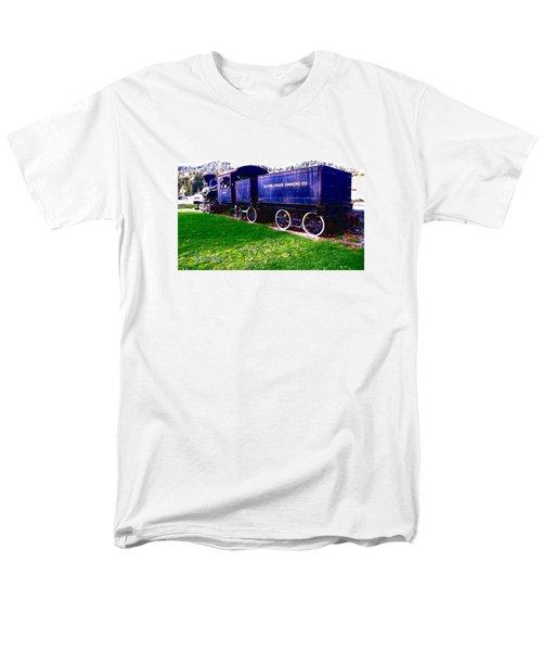 Men's T-Shirt  (Regular Fit) featuring the photograph Locomotive Steam Engine by Sadie Reneau
