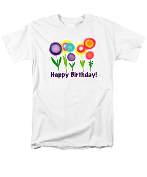 Men's T-Shirt  (Regular Fit) featuring the digital art Lollipop Flowers  by Christine Fournier