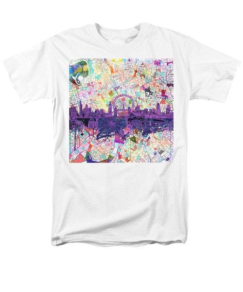 London Skyline Abstract Men's T-Shirt  (Regular Fit)