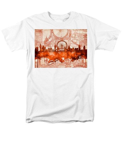 London Skyline Old Vintage 2 Men's T-Shirt  (Regular Fit)