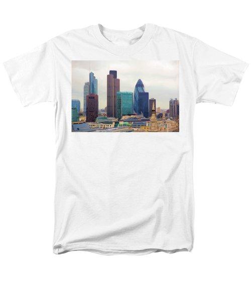 London Skyline Men's T-Shirt  (Regular Fit) by Ron Harpham