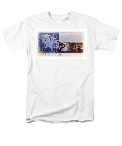 Men's T-Shirt  (Regular Fit) featuring the photograph Lone Star Flag Mural by Nadalyn Larsen