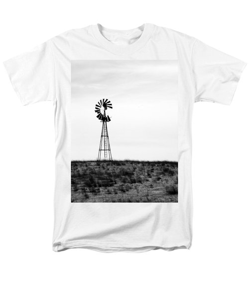 Men's T-Shirt  (Regular Fit) featuring the photograph Lone Windmill by Cathy Anderson