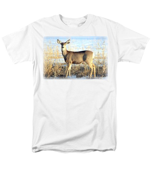 Men's T-Shirt  (Regular Fit) featuring the photograph Lonesome Doe Sunset by Barbara Chichester