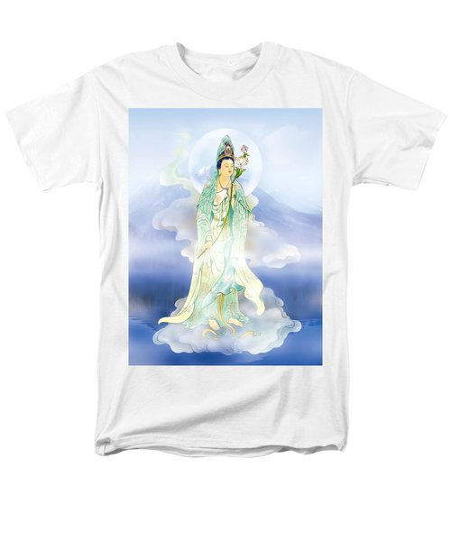 Men's T-Shirt  (Regular Fit) featuring the photograph Lotus-holding Kuan Yin by Lanjee Chee